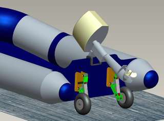 "Launching wheels for small boats ""Linklauncher"""